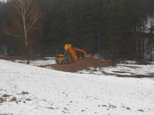 Erdarbeiten Fa. Seebauer Dammverstärkung