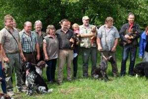 Prüfer und Teilnehmer Grundkurs für Jagdhunde 2019